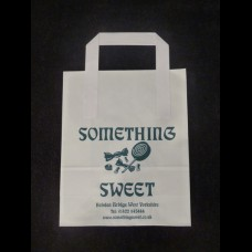 White/Brown Kraft Paper Bags with Paper Tape Handle Printed One Color One Sides