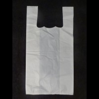 White HDPE Vest Style Carriers - Normal Thickness